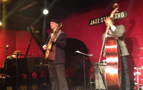 Kurt Rosenwinkel (center) and his New Quartet featuring Aaron Parks (left), Eric Revis (right), and Kendrick Scott (not pictured) performing at the Jazz Standard on January 11th, 2014