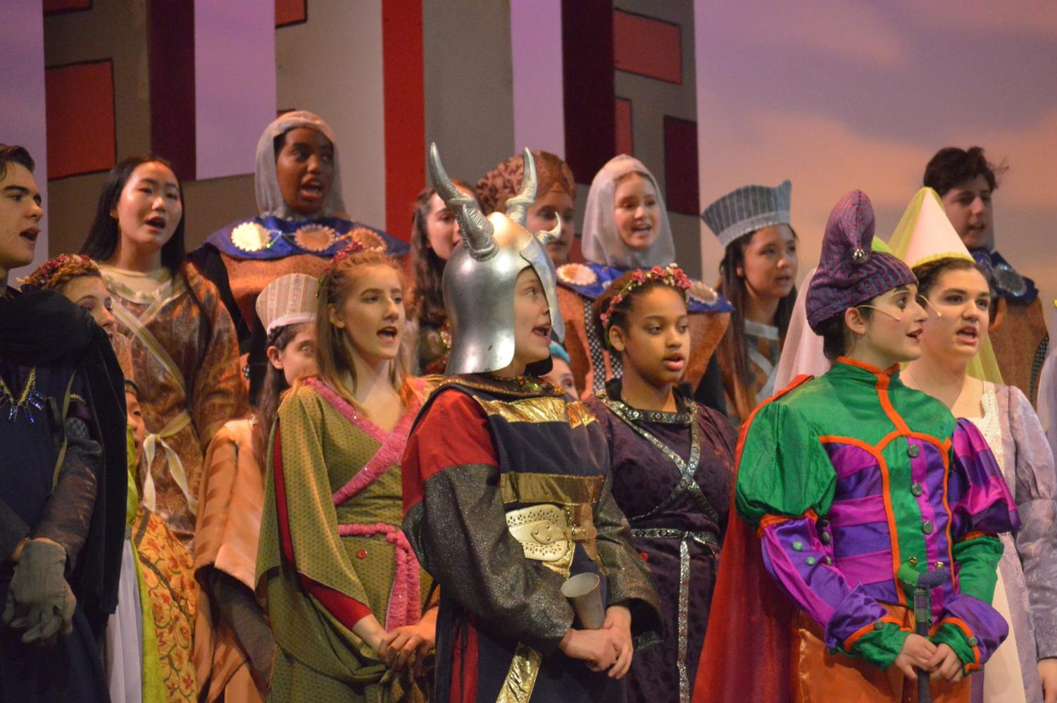 Cast of Once Upon A Mattress during their show during March 2019.