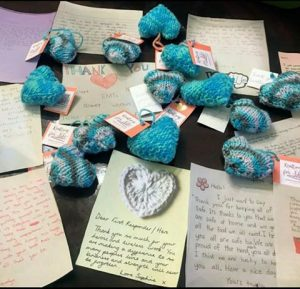 Knitting For Life Recognized on News 12 for Donations to Healthcare Workers