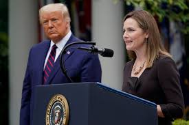 Justice Barrett works closely with President Donald Trump.